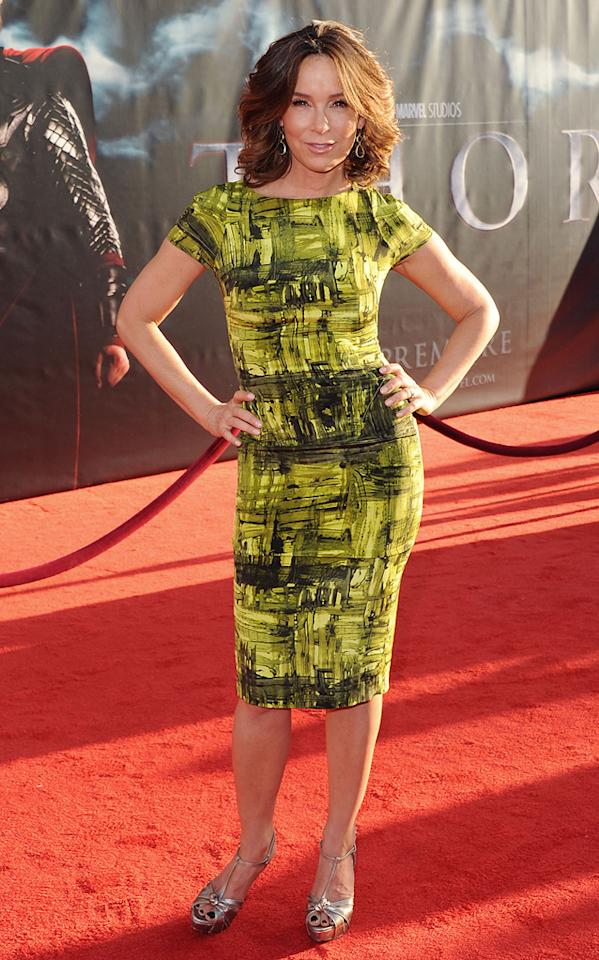 """<a href=""""http://movies.yahoo.com/movie/contributor/1800021291"""">Jennifer Grey</a> attends the Los Angeles premiere of <a href=""""http://movies.yahoo.com/movie/1810026342/info"""">Thor</a> on May 2, 2011."""
