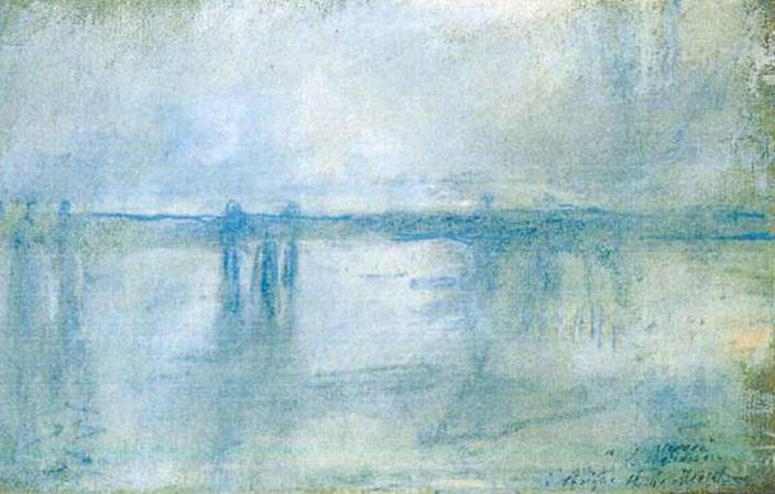 This photo released by the police in Rotterdam, Netherlands, on Tuesday, Oct. 16, 2012, shows the 1901 painting 'Charing Cross Bridge, London' by Claude Monet. Dutch police say seven paintings stolen from the Kunsthal museum in Rotterdam include one by Pablo Picasso, one by Henri Matisse, and two by Claude Monet. The heist, one of the largest in years in the Netherlands, occurred while the private Triton Foundation collection was being exhibited publicly as a group for the first time. (AP Photo/Police Rotterdam)