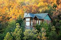 "<p>It doesn't get cozier than a log cabin in the mountains, like <a href=""https://www.countryliving.com/life/travel/g2611/log-cabin-getaways-across-america/"" rel=""nofollow noopener"" target=""_blank"" data-ylk=""slk:Big Cedar Lodge"" class=""link rapid-noclick-resp"">Big Cedar Lodge</a> <em>(pictured here)</em>. Time your trip with <a href=""https://www.countryliving.com/life/a36288/fall-foliage-map/"" rel=""nofollow noopener"" target=""_blank"" data-ylk=""slk:peek foliage"" class=""link rapid-noclick-resp"">peek foliage</a> for the best views. </p>"