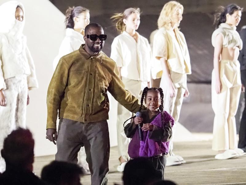 North West Turned Her Dad Kanye West's Fashion Show Her Own Personal Concert
