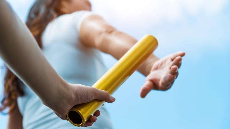 Pass the baton in your own relay races.