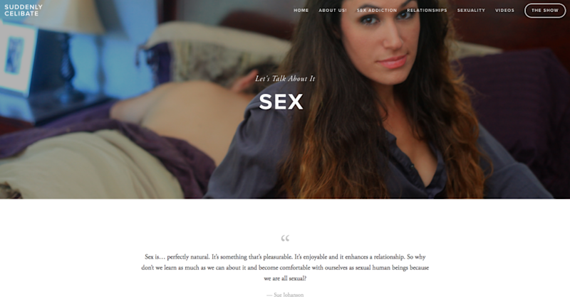 Jace decided to give up sex altogether, and began her Suddenly Celibate project. Photo: www.suddenlycelibate.com