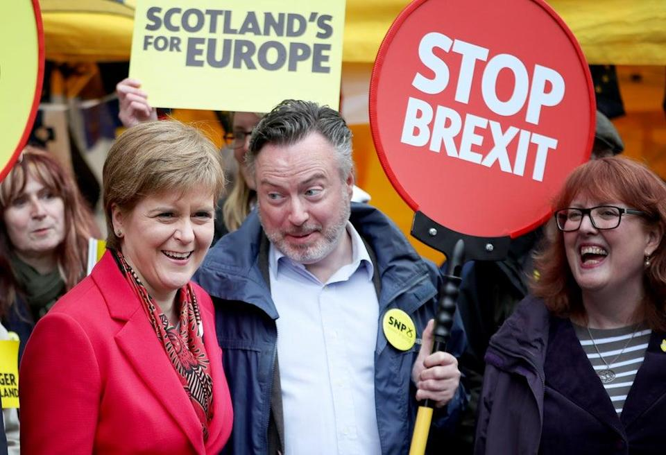 Alyn Smith said rejoining the EU 'would put rocket boosters' on Scotland's Covid recovery (Jane Barlow/PA)