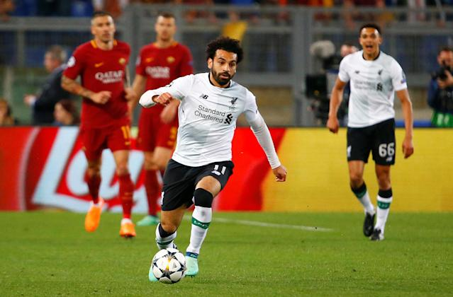 Soccer Football - Champions League Semi Final Second Leg - AS Roma v Liverpool - Stadio Olimpico, Rome, Italy - May 2, 2018 Liverpool's Mohamed Salah in action REUTERS/Tony Gentile
