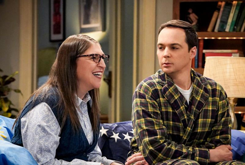 """Mayim Bialik and Jim Parsons are moving on from playing Amy and Sheldon in the recently ended """"Big Bang Theory"""" to a new sitcom project called """"Carla."""" (Photo: CBS Photo Archive via Getty Images)"""