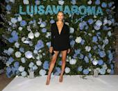 <p><strong>28 August </strong>Natasha Poly wore a chic black playsuit.</p>