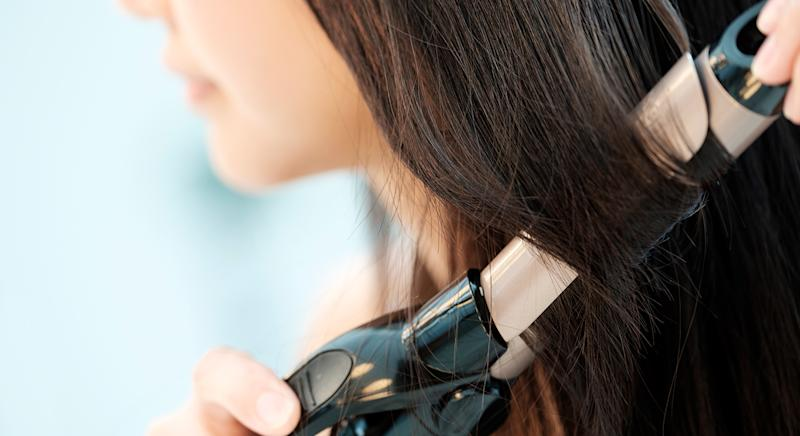 Toni & Guy's Deep Barrel Waver hair curling tong is on sale on Amazon. (Getty Images)