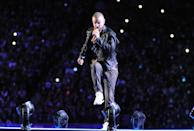 Justin Timberlake performs on stage during the Pepsi Super Bowl LII Halftime Show at U.S. Bank Stadium on February 4, 2018 in Minneapolis, Minnesota. (Photo by Focus on Sport/Getty Images)