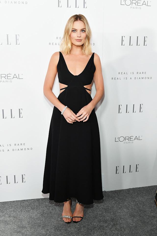 <h2>In Calvin Klein</h2>                                                                                                                                                                             <p><p>At <i>Elle'</i>s 24th Annual Women in Hollywood Celebration in Los Angeles, 2017</p>                                                                                                                                                                               <h4>Getty Images</h4>