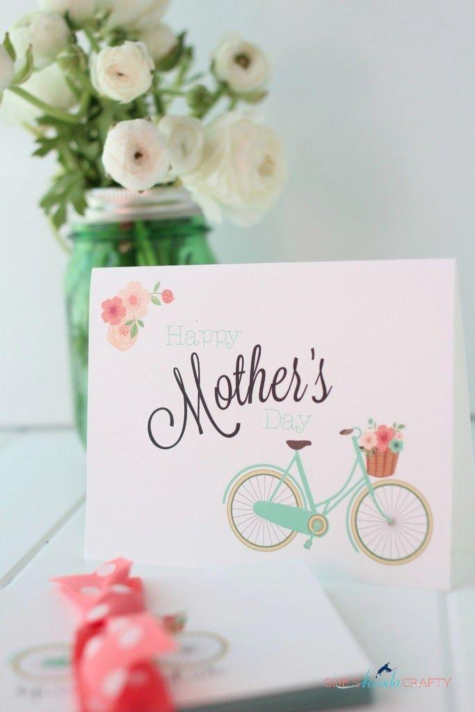 """<p>If Mom taught you how to ride a bike, she deserves much more than this card! Consider pairing it with brunch and a bike ride through the park for a full day together.</p><p><strong>Get the printable at <a href=""""http://www.sheskindacrafty.com/2014/04/free-mothers-day-card-and-stationary.html"""" rel=""""nofollow noopener"""" target=""""_blank"""" data-ylk=""""slk:She's Kinda Crafty"""" class=""""link rapid-noclick-resp"""">She's Kinda Crafty</a>.</strong></p>"""