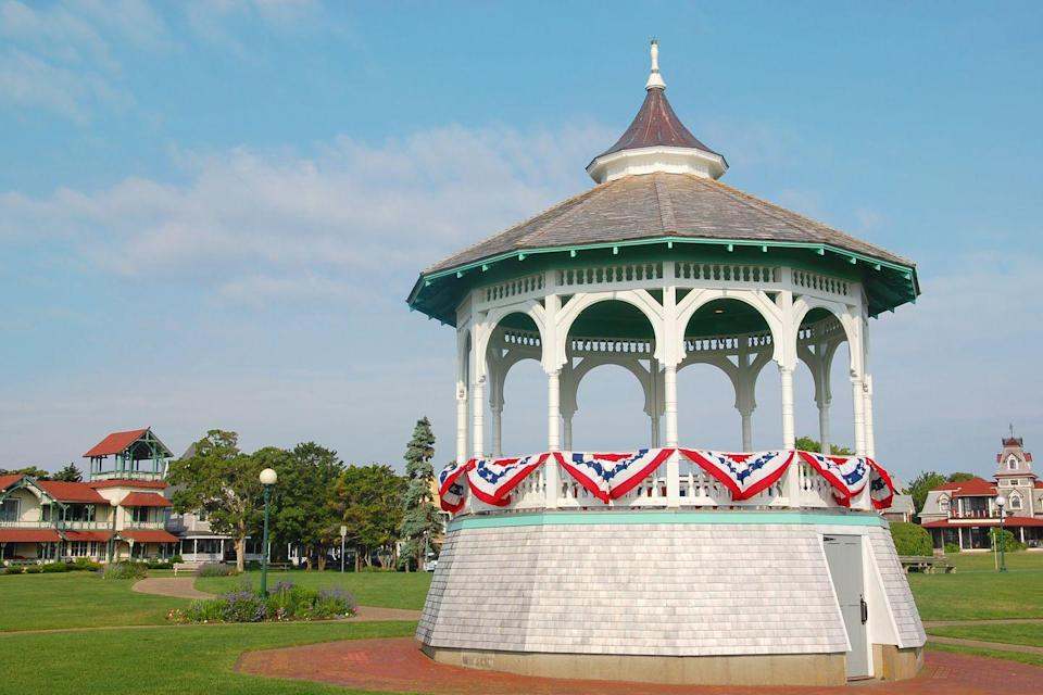 <p>A gazebo decked out in patriotic swag, like this one in Martha's Vineyard, Massachusetts, is the perfect place for a summer concert, first kiss or epic proposal. </p>