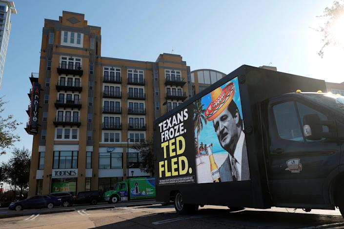 <p>Ted Cruz has faced criticism since leaving storm-hit Texas to go to Cancun, Mexico with his family</p> (Getty Images)