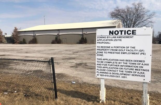 The town of Ajax has rezoned this golf course property to allow for the construction of a $600 million distribution warehouse. The owners of a nearby wetland in Pickering, who also want to build a large distribution warehouse on their property, have tied up the Ajax development by launching a legal appeal of the rezoning.