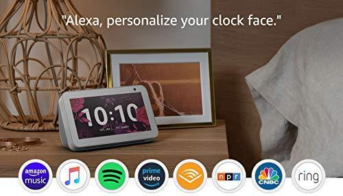 Echo Show 5 Sandstone with Blink Mini Indoor Smart Security Camera, 1080 HD with Motion Detecti…