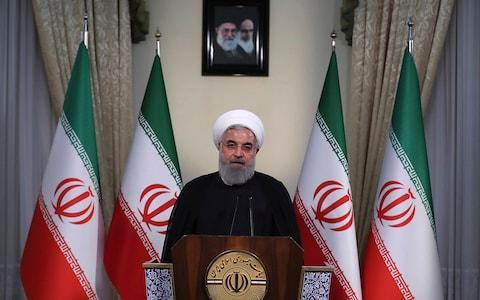 """<span>Hassan Rouhani warned of the """"mother of all wars""""</span> <span>Credit: AP </span>"""