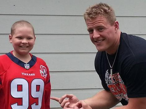 J.J. Watt visits one of his biggest fans, 12-year-old Cristian.