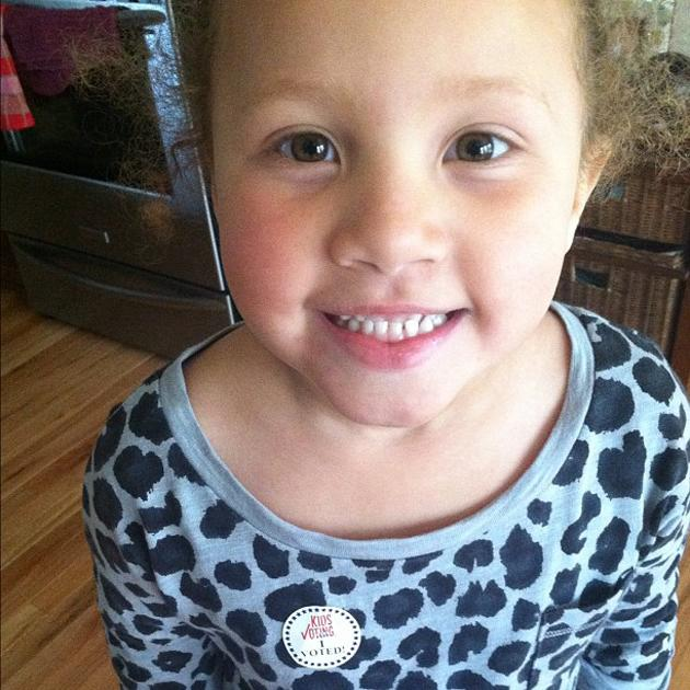 "My baby almost brought tears to my eyes... She said ""Daddy I voted for @barackobama today!! Aren't you proud - @MrOH1O, via Twitter"