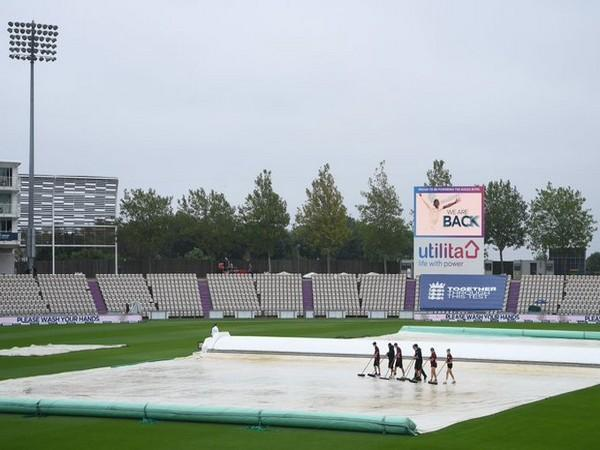 Day three ended without a ball being bowled at Ageas Bowl (Photo/Pakistan Cricket Twitter)