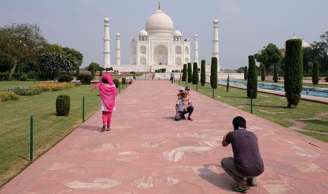 Coronavirus: Taj Mahal reopens - despite India recording 87,000 new COVID cases in a single day
