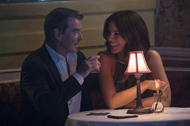 Pierce Brosnan and Kate Beckinsale in <em>The Only Living Boy in New York.</em> (Photo: Roadside Attractions)