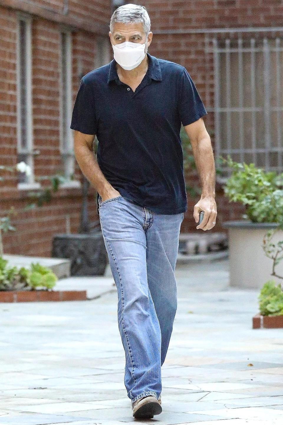 <p>George Clooney was spotted out and about in Beverly Hills, California.</p>