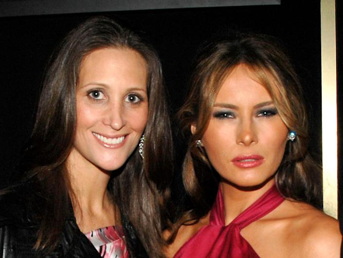 Stephanie Wolkoff (pictured left) and Melania Trump have known each other for nearly 20 yearsPatrick McMullan via Getty