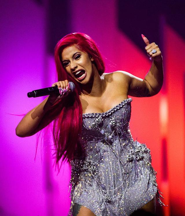 """<p>The 25-year-old rapper made her mark in 2017. Her hit single, """"Bodak Yellow,"""" became the unofficial song of the summer, hitting the top of <em>Billboard's</em> Hot 100 chart and staying there for three weeks. She became the first solo female rap act to top the <em>Billboard</em> charts in 19 years — since Lauryn Hill did it with """"Doo Wop (That Thing)"""" for two weeks. The Bronx-born spitfire also made headlines for her personal life; Migos rapper Offset <a href=""""https://www.yahoo.com/lifestyle/cardi-b-migos-apos-offset-043801930.html"""" data-ylk=""""slk:proposed to her onstage;outcm:mb_qualified_link;_E:mb_qualified_link"""" class=""""link rapid-noclick-resp newsroom-embed-article"""">proposed to her onstage</a> during a concert. (Photo: GP Images/Getty Images) </p>"""