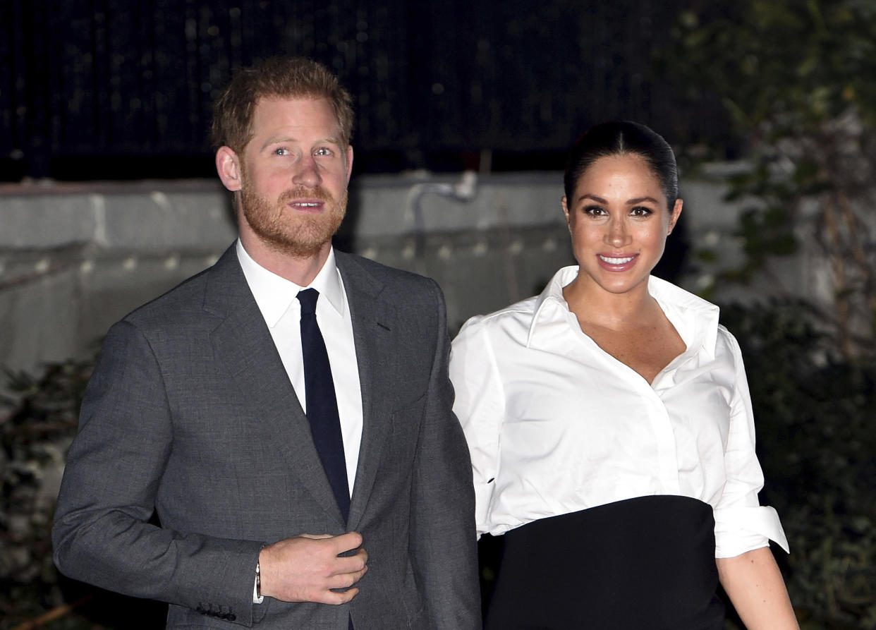 """January 20th 2020 - Buckingham Palace has announced that Prince Harry and Duchess Meghan will no longer use """"royal highness"""" titles and will not receive public money for their royal duties. Additionally, as part of the terms of surrendering their royal responsibilities, Harry and Meghan will repay the $3.1 million cost of taxpayers' money that was spent renovating Frogmore Cottage - their home near Windsor Castle. - January 9th 2020 - Prince Harry The Duke of Sussex and Duchess Meghan of Sussex intend to step back their duties and responsibilities as senior members of the British Royal Family. - File Photo by: zz/KGC-03/STAR MAX/IPx 2019 2/7/19 Prince Harry The Duke of Sussex and Meghan The Duchess of Sussex at the Endeavour Fund Awards Ceremony held at Drapers' Hall. (London, England, UK)"""