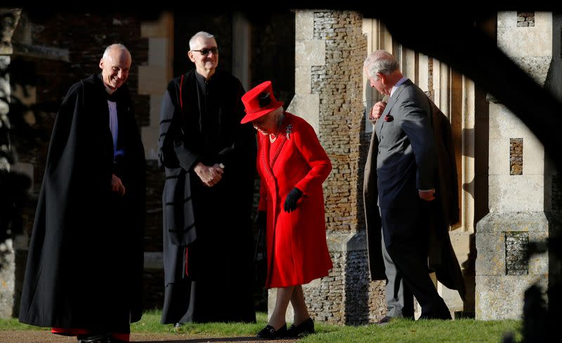 Royal Family's Christmas Day service on the Sandringham estate in eastern England