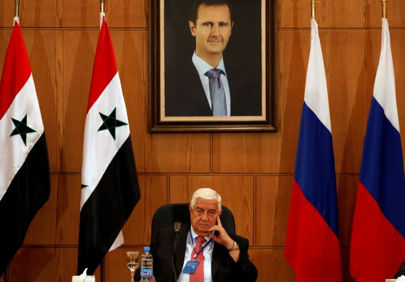 FILE PHOTO - Syria's Foreign Minister Walid al-Moalem