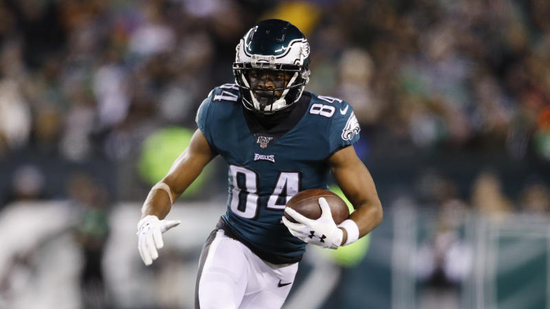 Philadelphia Eagles wide receiver Greg Ward Jr. has made a nice transition from college QB. (AP Photo/Matt Rourke)