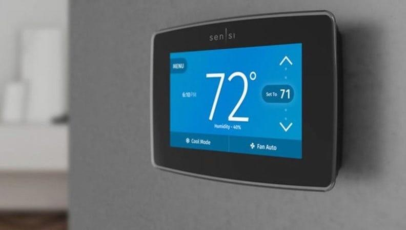 When using the Emerson Sensi Touch WiFi Thermostat, you can control the temperature inside of your home with Siri, Alexa, and Google Assistant.
