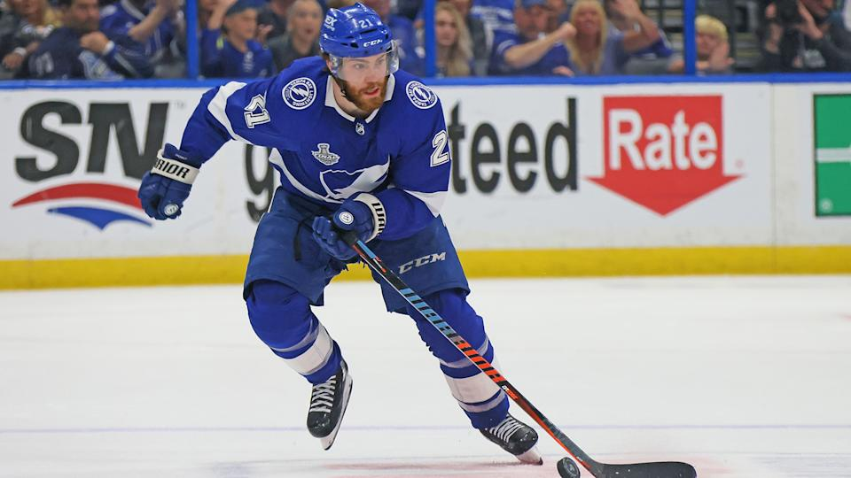 Brayden Point is staying in Tampa for the long haul. (Photo by Bruce Bennett/Getty Images)