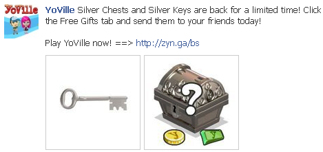 YoVille Silver Chests and Silver Keys