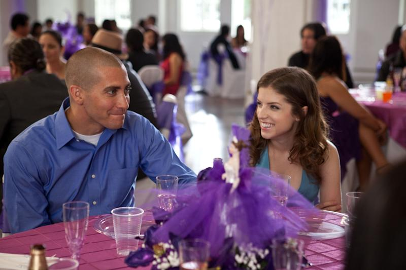 """This film image released by Open Road Films shows Jake Gyllenhaal, left, and Anna Kendrick in a scene from """"End of Watch."""" (AP Photo/Open Road Films, Scott Garfield)"""