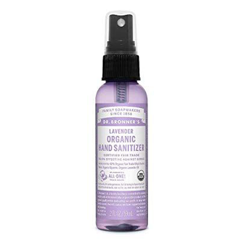 """<p><strong>Dr. Bronner's</strong></p><p>amazon.com</p><p><strong>$15.99</strong></p><p><a href=""""https://www.amazon.com/dp/B005P0NFFW?tag=syn-yahoo-20&ascsubtag=%5Bartid%7C2140.g.31469255%5Bsrc%7Cyahoo-us"""" rel=""""nofollow noopener"""" target=""""_blank"""" data-ylk=""""slk:Shop Now"""" class=""""link rapid-noclick-resp"""">Shop Now</a></p><p>This easy-to-use spray has the added calming effect of a lavender scent. It has 62 percent ethyl alcohol for fighting germs. The ingredients are USDA-certified organic, vegan, and not tested on animals.</p>"""