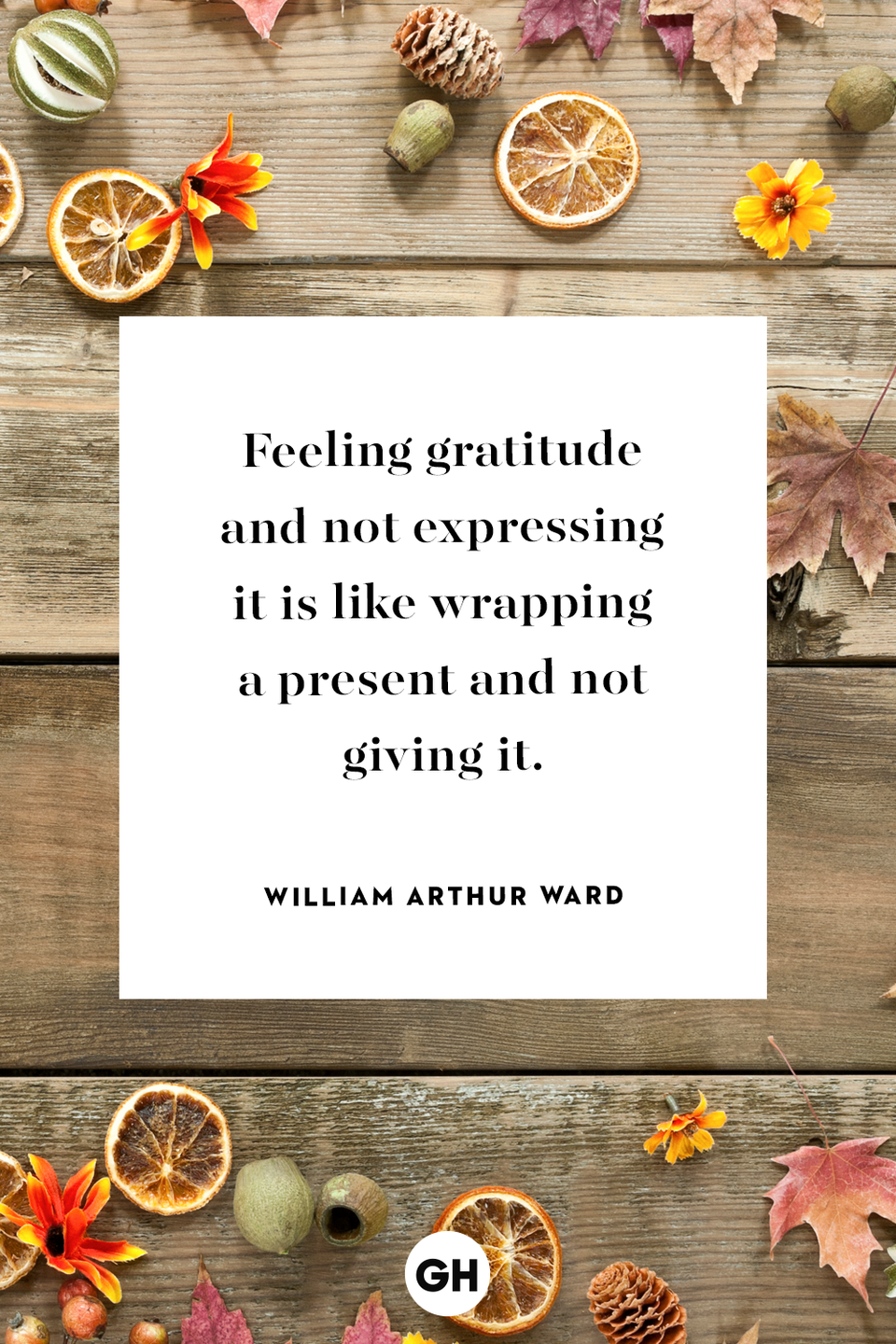 <p>Feeling gratitude and not expressing it is like wrapping a present and not giving it.</p>