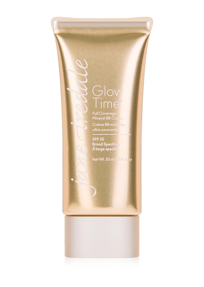 """Jane Iredale Glow TimeFull Coverage Mineral BB Cream, $48; at <a rel=""""nofollow"""" href=""""https://janeiredale.com/us/en/mineral-makeup/mineral-makeup-foundation/glow-time-full-coverage-mineral-bb-cream.htm"""">Jane Iredale</a>"""