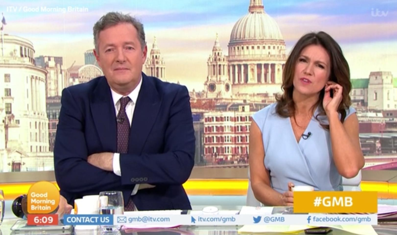 Piers Morgan and Susanna Reid discuss the 2019 Met Gala on 'Good Morning Britain'. (Credit: ITV)