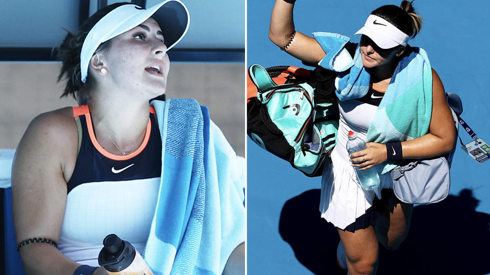 Bianca Andreescu, pictured here in action at the Australian Open.