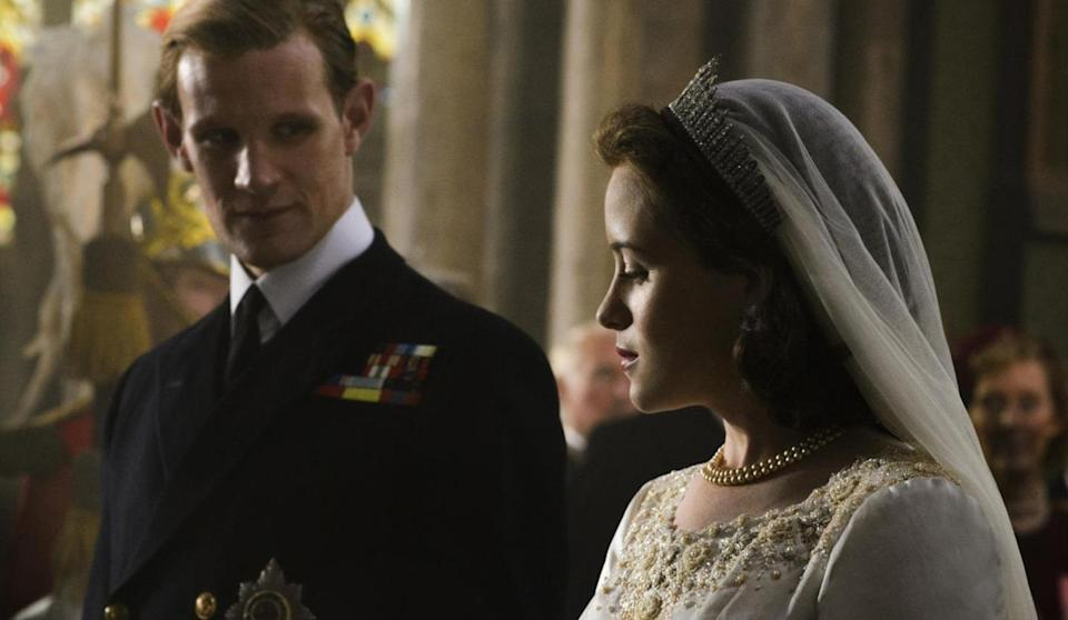 Matt Smith and Claire Foy in The Crown (Credit: Netflix)
