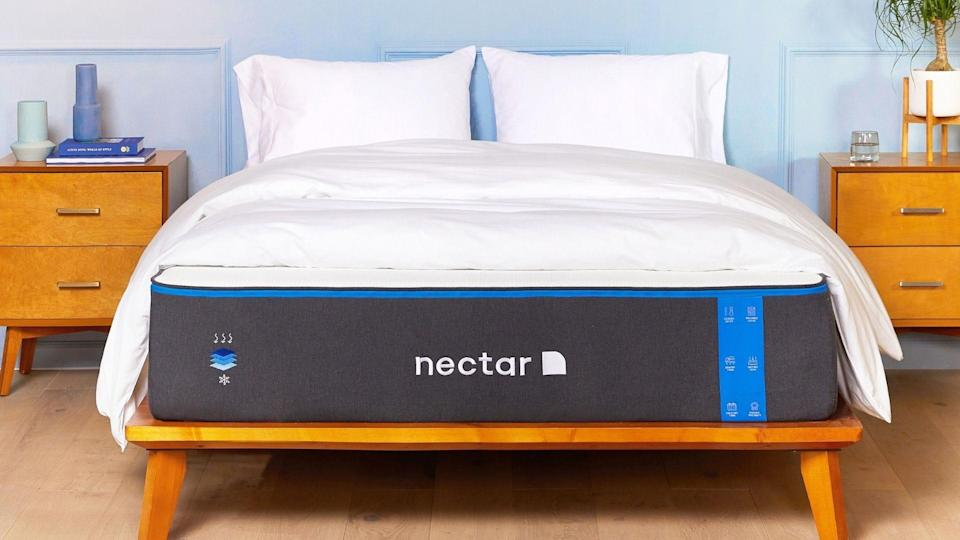 The soft Nectar mattress cushions pressure points while sleeping on your side.