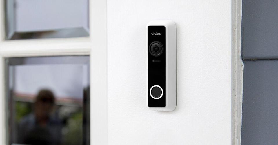 """<p><strong>VIVINT</strong></p><p>VIVINT.com</p><p><strong>$149.99</strong></p><p><a href=""""https://www.vivint.com/products/doorbell-camera"""" rel=""""nofollow noopener"""" target=""""_blank"""" data-ylk=""""slk:BUY NOW"""" class=""""link rapid-noclick-resp"""">BUY NOW</a></p><p>If dad needs a new security device in his home, then look no further than the Vivint Doorbell Camera Pro, which has a 180-degree vertical and horizontal field of view, along with a 1:1 aspect ratio, so he can see visitors and packages left directly below the camera. You can purchase the doorbell camera with or without the complete Vivint smart home system, which includes products like smart locks, lighting, and security sensors.</p>"""
