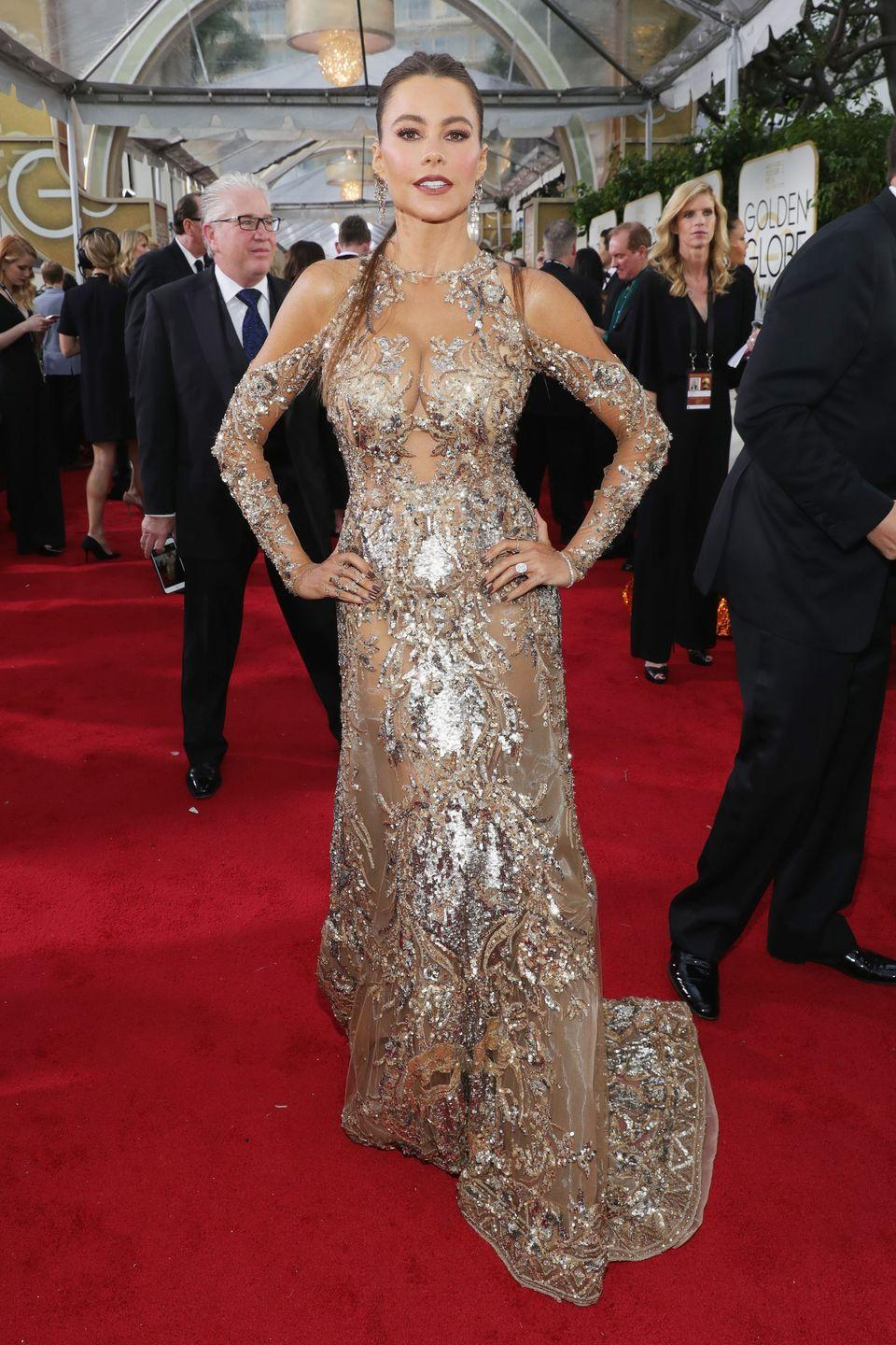 <p>Vergara is no stranger to the sexy dress, and 2017 was especially stunning in Zuhair Murad.</p>