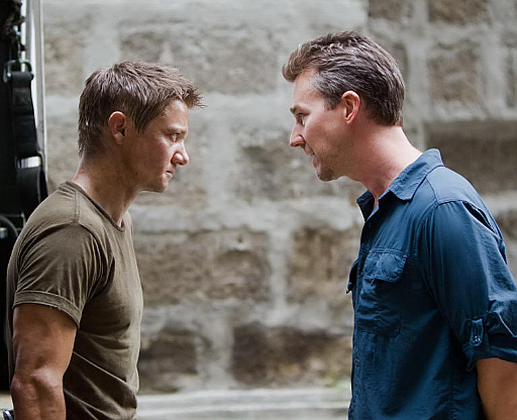 """Jeremy Renner and Edward Norton in Universal Pictures' """"The Bourne Legacy"""" - 2012"""
