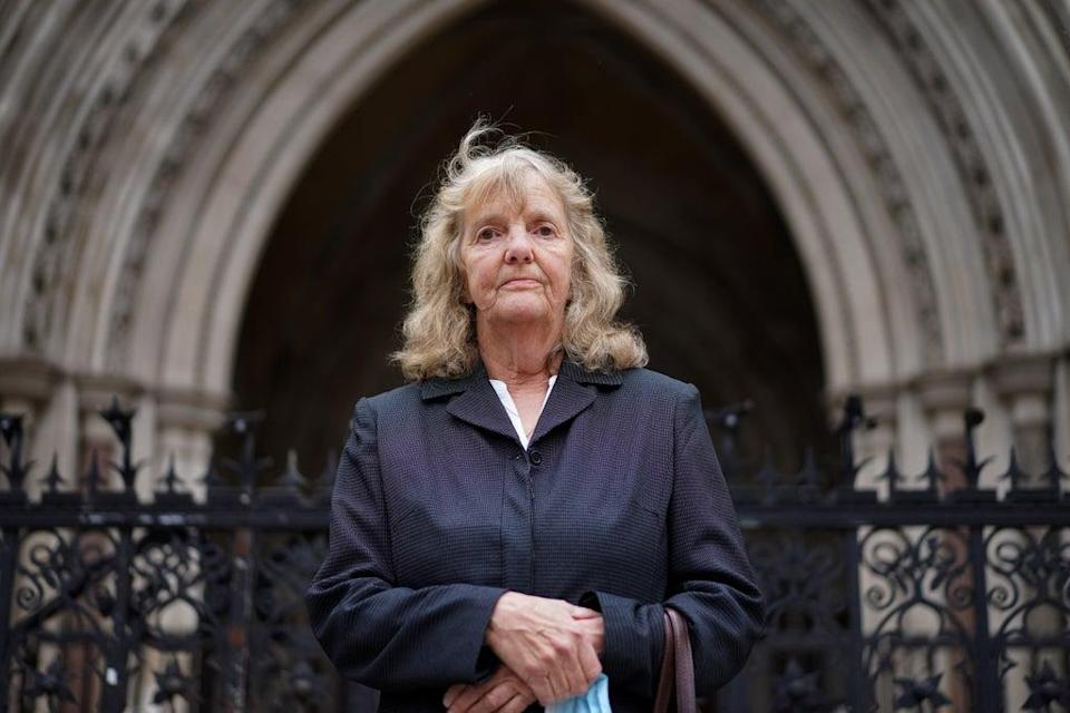 Joy Dove, the mother of housebound disabled woman Jodey Whiting, who killed herself after her benefits were cut, who is to find out whether she has won her High Court bid for a fresh inquest into her daughter's death (PA) (PA Wire)