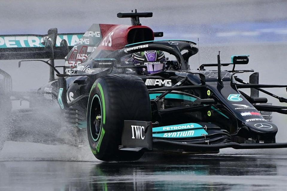 Lewis Hamilton will start from 11th on the grid at the Turkish Grand Prix in Istanbul  (AFP via Getty Images)
