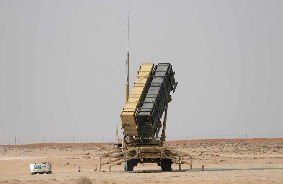 A US Patriot missile battery is seen near Prince Sultan air base at al-Kharj, Saudi ArabiaPOOL/AFP via Getty Images