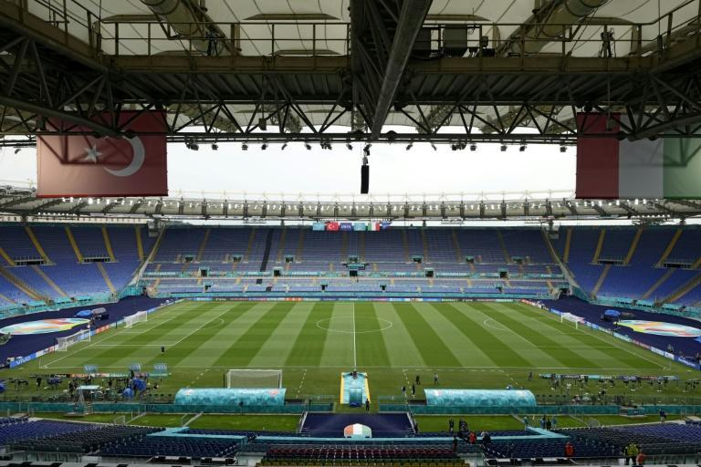 The Stadio Olimpico in Rome will have 16,000 fans inside for Friday's opening game between Italy and Turkey