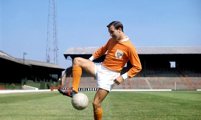 Jimmy Armfield in 1963. He was a colossus of Blackpool FC, which he captained for a decade.
